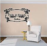 Nails Art Wall Decal Beauty Salon Manicure Wall Vinyl Pegatina Nail Salon Ventana Vinilos Vinilos Clavos Y Belleza Logo Fotomural 57x31cm