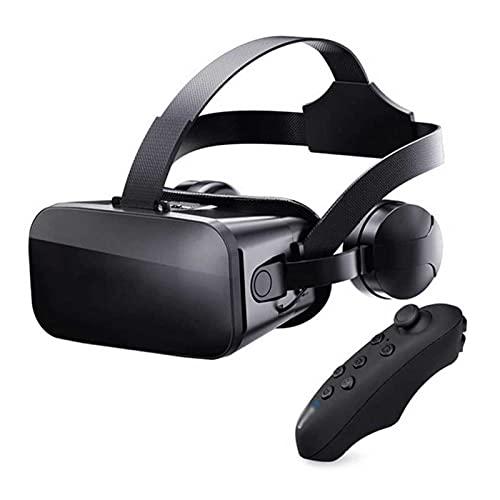 UOOD Auriculares VR 3D, Caja de Realidad Virtual de Gafas VR 3D con Lente Ajustable y Correa cómoda para películas y Juegos en 3D, Compatible con iOS, Android (Color : B)