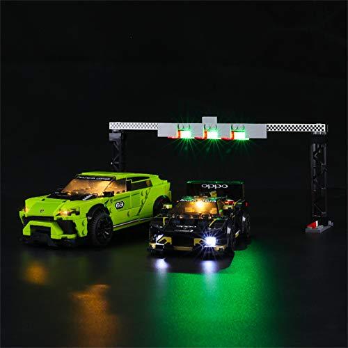 LIGHTAILING Light Set for (Speed Champions Lamborghini Urus ST-X and Lamborghini Huracán Super Trofeo EVO Building Blocks Model - Led Light kit Compatible with Lego 76899 (NOT Included The Model)