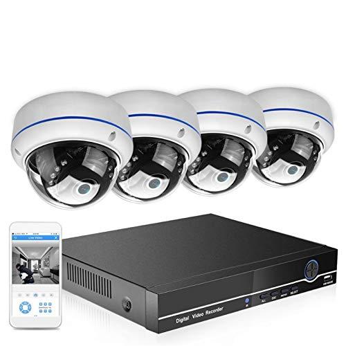 SCAYK 8CH 1080P PoE NVR Sistema DE Seguridad CCTV 4PCS 2.0MP 3.0MP Audio Registro IP Cámara P2P IR P2P Kit de videovigilancia al Aire Libre 2TB HDD (Build-in HDD : None, Color : 3.0MP Kit)