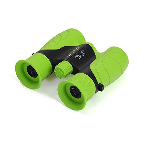 Tyhbelle Mini Kinderfernglas 8 X 21, Robustes Fernglas für Kleine Entdecker in Blau,Grün und Pink (Grün)