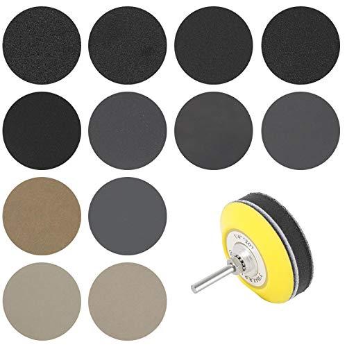 180pcs 3inch Wet Dry Sandpaper Round Shape Sanding Discs Abrasive 60-10000 Grits Buffing Sheet Sander Polishing Pad 3inch180pcs