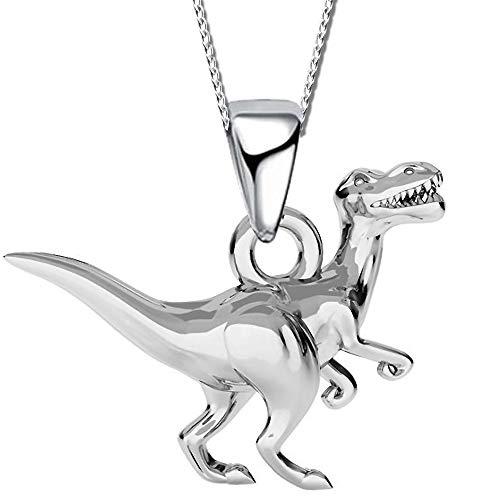 Kinder Dinosaurier Halskette mit Anhänger echt 925 Sterling Silber Mädchen Kette K533o 40cm