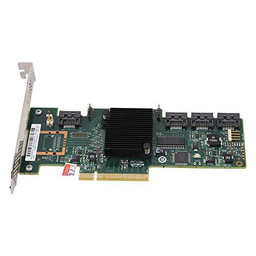Kafuty SAS 6 GB RAID Storage Controller Card mit 4 Ports für LSI, Standard 6 GB SATA/SAS-Schnittstellen Unterstützt SAS-Festplatte, 9212-4i Card Smart Array(IT-Modus)
