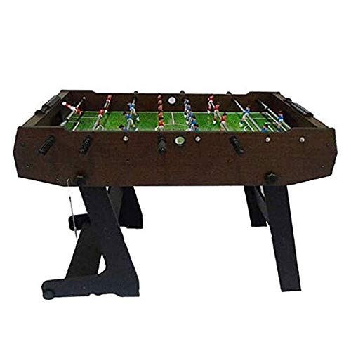 CHENNAO Folding Table Football Table, Easily Assemble Wooden Soccer Game Table w/Footballs, Indoor Table Soccer Set for Arcades, Game Room, Bars, Parties, Family Night