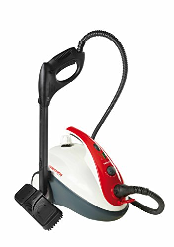 Polti Vaporetto Smart Spazzatrice 30_R Mopa, 1.6L, 1800W (ricondizionato Certificado), 1.6 litros, 18/8 Stainless Steel, Negro/Rojo/Blanco