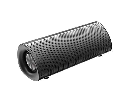 DAMAI STORE Audio, Altavoz Inalámbrico Bluetooth, Tiempo De Reproducción Portátil De 15 Horas, 4.2 Bluetooth 10 Metros Bajo Mejorado Estéreo Fuerte (Color : Black)