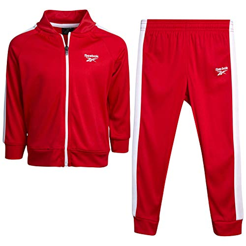Reebok Baby Boys? Tracksuit Set with Jacket and Joggers (Infant/Toddler), Size 4T, Red-White Panel