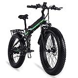 Bicicleta Eléctrica Plegable Para Adultos 1000W Bicicleta De Nieve Bicicleta Eléctrica Bicicleta Eléctrica Plegable 48V12Ah Bicicleta Eléctrica 4. 0 Llanta De Grasa E Bicicleta ( Color : MX01 green )