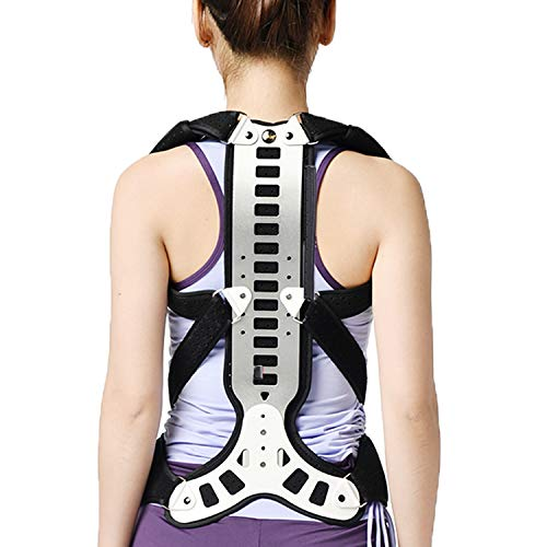 Pandady Haltungskorrektur Für Männer Und Frauen, Korrektur Und Ausrichtung des Oberen Rückens, Unterstützung des Oberen Rückens Und Schmerzlinderung in Nacken, Rücken Und Schultern,Silver,L