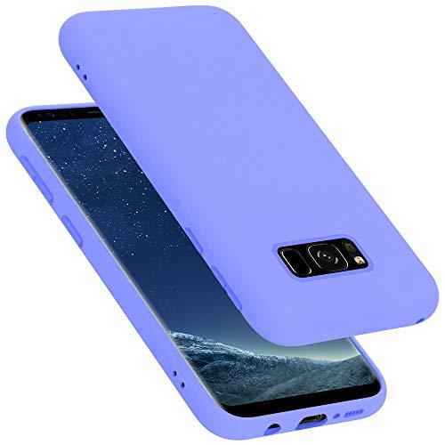 Cadorabo Custodia per Samsung Galaxy S8 in LIQUID LILA CHIARO - Morbida Cover Protettiva Sottile di Silicone TPU con Bordo Protezione - Ultra Slim Case Antiurto Gel Back Bumper Guscio