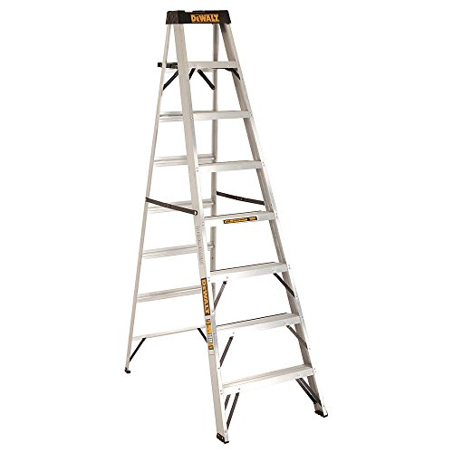 DeWalt DXL2010-08 8-Feet Aluminum Stepladder Type IA with 300-Pound Duty Rating, 8-Feet