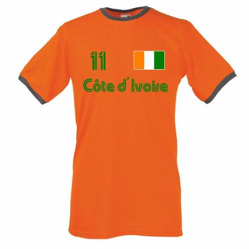 Elfenbeinküste Retro T-Shirt Cote D´Ivoire Trikot Nr.11|xxl