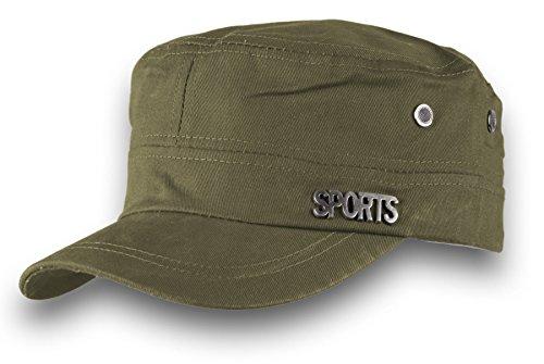 Cappello Militare Cadetto Cadet Cap Cotone Army Sport Military Hat MFAZ Morefaz Ltd (Khaki)
