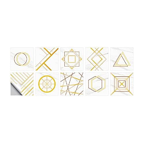 yasu7 Adhesivos para azulejos de pared autoadhesivos S/M/L para decoración de baño adhesivo para azulejos Golden Line