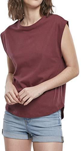 Urban Classics Damen Ladies Basic Shaped Tee T-Shirt, Cherry, 3XL