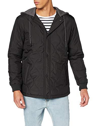 Urban Classics Herren Quilted Hooded Jacket Jacken, Black, M
