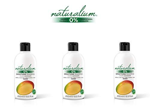 Naturalium PACK Champú Suavizante Mango - Set de Champús Hidratantes para Cabello Normal y Seco, 3 de 400 ml