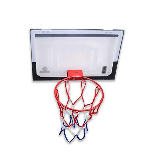 Nostalgie sobre la Puerta Baloncesto Hoop Interior Baloncesto Juego de Baloncesto para Puertas Habitación con Bolas Accesorios Incluidos 17X11''