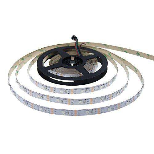 ALITOVE WS2812B adressierbarer RGB-LED-Streifen 5 V DC kompatibel mit Arduino Raspberry Pi für Heimkino, Bar, PC, Gehäuse, Dekorationsbeleuchtung