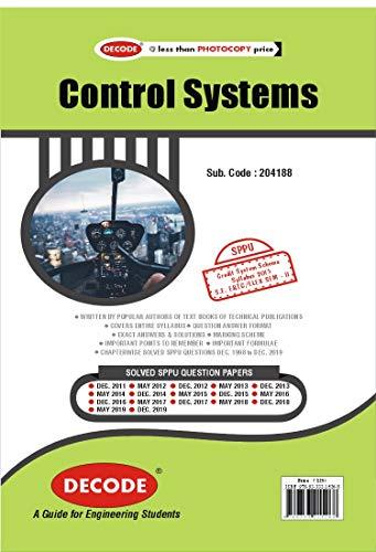 Control Systems for SPPU 15 Course (SE - II - Elex./E&Tc - 204188) - 2020 Edition (English Edition)