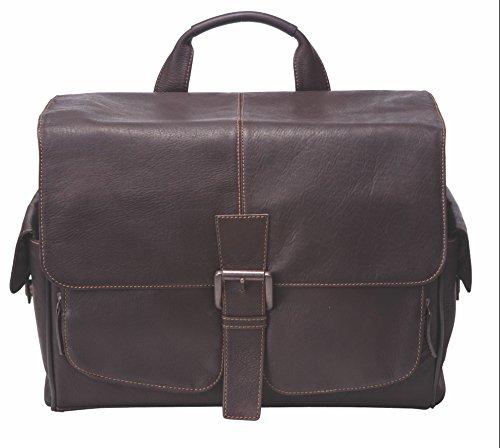 Jill-e Designs Professional Leather Camera Messenger Bag, Multi-Use, Brown (144744)