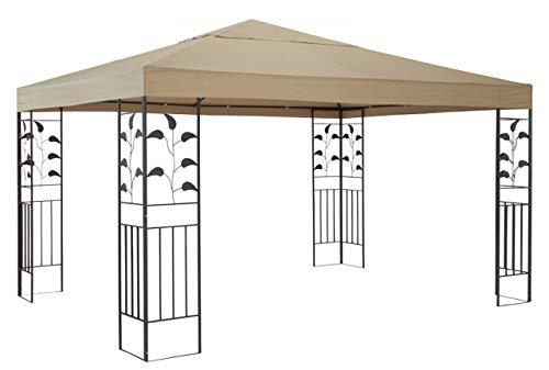 QUICK STAR - Cenador para jardín (3 x 3 m, Metal), diseño de Hojas