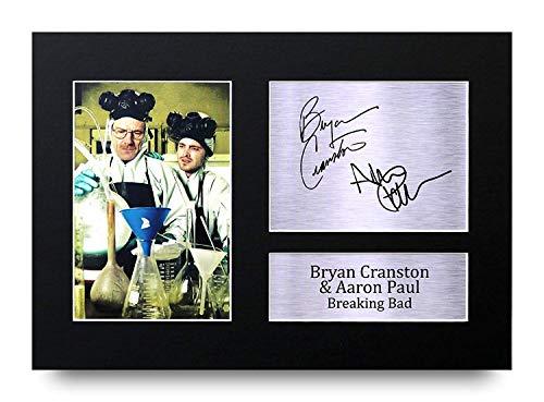 HWC Trading Bryan Cranston Aaron Paul A4 Ungerahmt Signiert Gedruckt Autogramme Bild Druck-Fotoanzeige Geschenk Für Breaking Bad Tv-Show-Fans