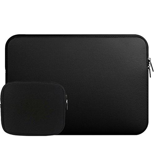 Housse pc Portable/Pochette/Besace/Sacoche Manche Sac pour Chargeur pour Ordinateur Portable/Macbook Air/Macbook Pro Retina(15 Pouces,Noir)