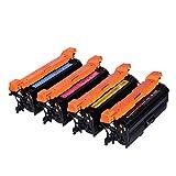 XCCV Cartucho de tóner 651A CE340A CE341A CE342A CE343A Compatible con la Impresora HP Laserjet Enterprise 700 Color MFP / M775dn con Chip-Set
