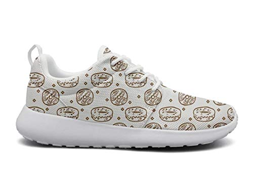 rttyl et67u67 Funny Sneaker Women Girls Fashion Donuts Print Jogger Running Shoes