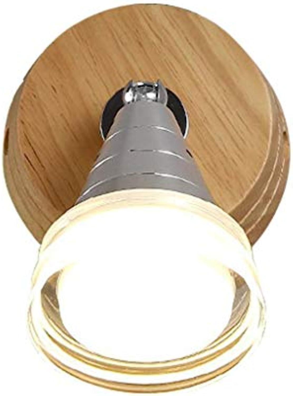 Wandleuchte, Kreative Woody Wohnzimmer Schlafzimmer Nachttischlampe Leuchten Spiegel Vorne Licht Balkon Gang Dekoration Lampen Und Laternen 35  15 Cm Mode (Gre  35  15 Cm Led)