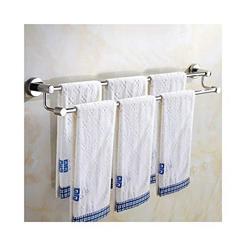 Estantes de baño de doble toalla, montaje en pared, barra de toallero, acabado de acero inoxidable, montaje de tornillo (tamaño : 40 cm)