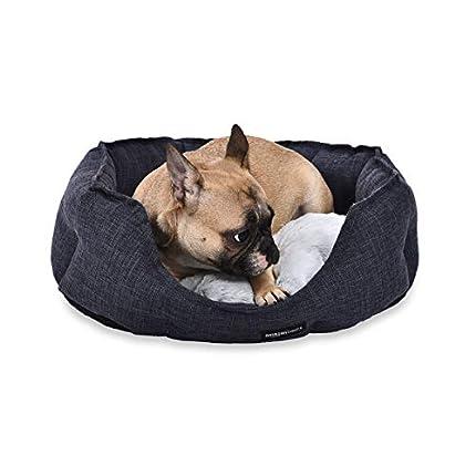 Amazon Basics Cama redonda para mascotas, de tamaño pequeño, gris