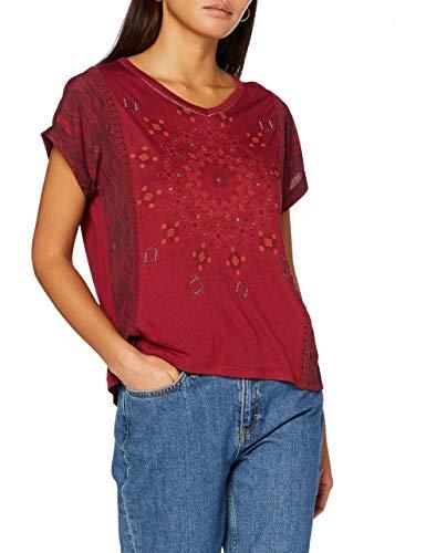 Desigual Womens TS_Detroit T-Shirt, Red, XXL