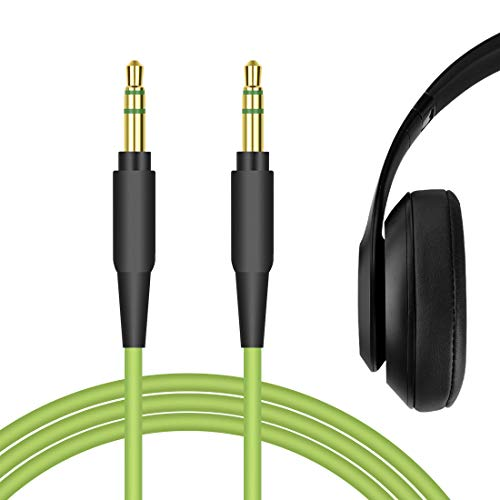Geekria Audio Cable Replacement for Beats Solo, Solo2, Solo3, Wireless, Solo HD, Studio, Studio Wireless, Mixr, Pro, Executive Headphones Cable/Headphone Audio Cord (Green)