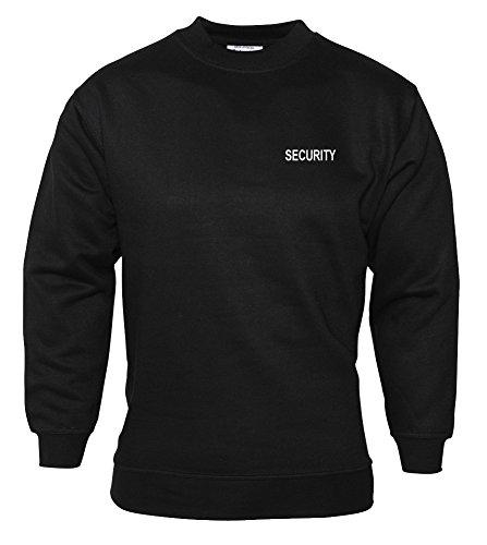 Workwear World 'Security' Ricamato e Stampato Portiere buttafuori con Maniche Nere Nero L