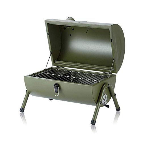 WFFF Barbecue Grill Outdoor Arch BBQ Grill Portable Folding Charcoal Grill with Lid and Handle Stainless Steel Camping Picnic Barbecue Stove, Best Gift for Family and Friends