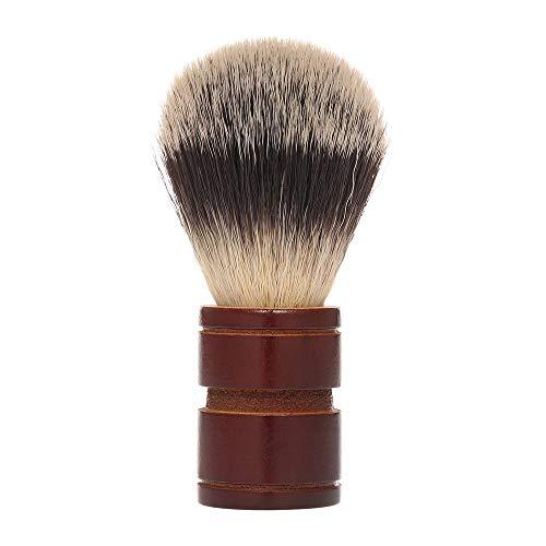 Pennello da barba, Anself Pennello sintetico morbido e confortevole con manico in legno per Beard Grooming Strumento di rasatura personale e professionale