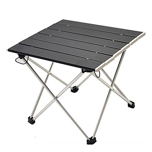 Alluminio pieghevole campeggio Tavolo, portatile chiaro pieghevole Tavolo di peso per picnic, Campo, Spiaggia, Pesca, BBQ-picnic Tavolo da giardino portatile rotoli in su Tabella di