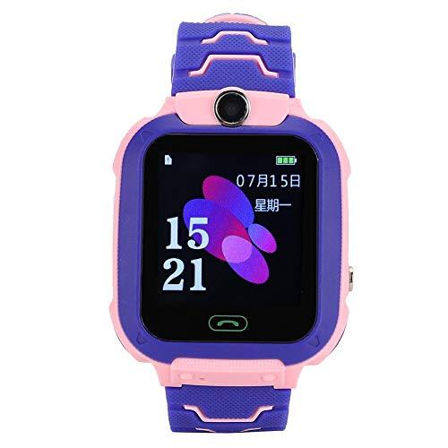 【𝐏𝐫𝐨𝐦𝐨𝐜𝐢ó𝐧 𝐝𝐞 𝐒𝐞𝐦𝐚𝐧𝐚 𝐒𝐚𝐧𝐭𝐚】 Reloj Inteligente con Reloj SIM para Llamadas telefónicas, ni?as Inteligentes para ni?os(Pink Purple)