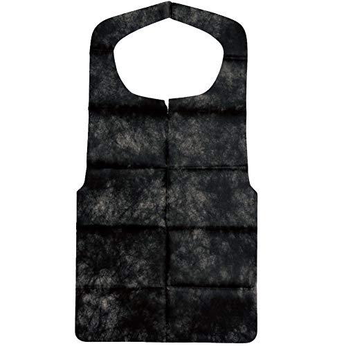 ナガオ 使い捨てエプロン 不織布 ブラック 一枚毎折畳 50枚入 3082644