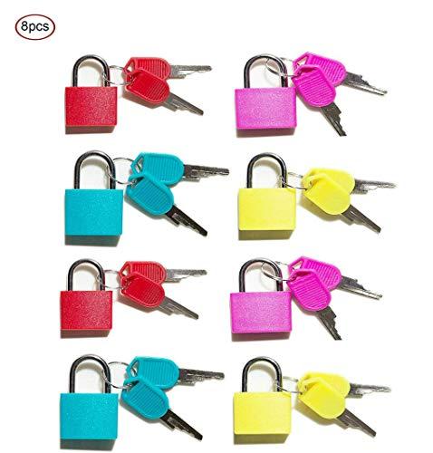 Vorhängeschloss 8 Stück Bunt kleine vorhängeschlösser mit schlüssel Für Rucksäcke sind Computer Bags Toolbox und andere Farben leicht zu unterscheiden