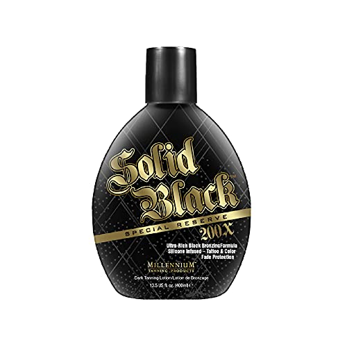 Millennium Tanning SOLID BLACK Special Reserve 200x Ultra Rich Black Bronzer 13.5 fl oz