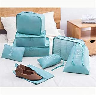 8 Set Travel organizers Packing Cubes Lightweight Luggage Accessories Clothes Shoes Toiletry Bag