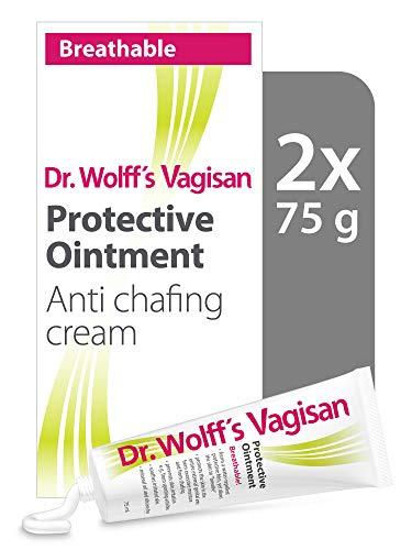 Dr. Wolff`s Vagisan Schutzsalbe | Anti Chafing Creme für den Intimbereich | Tägliche Vaginalgesundheit und Intimhygiene | 2x 75ml