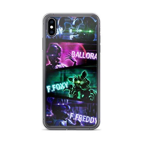 iPhone SE 2020/7/8 Hülle Pure Clear TPU Fälle Fallschutz Handyhülle Cover FNAF Baby Ballora Ffoxy Ffreddy Animatronic