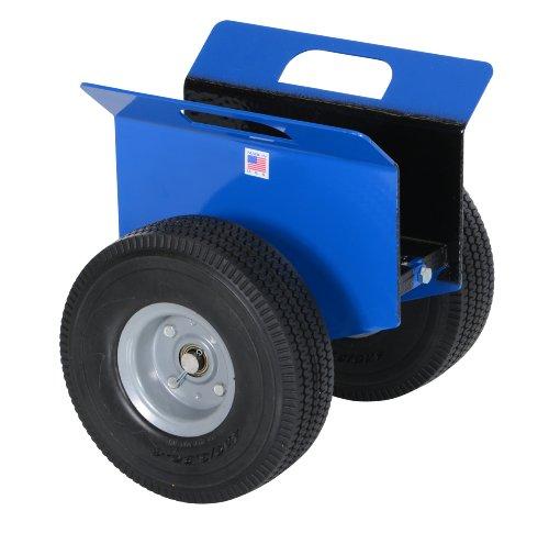 Vestil PLDL-HD-4 Steel Plate and Slab Dolly with Foam Wheels, 500 lbs Load Capacity, 14-1/4' Height, 12' Length x 13-5/8' Width