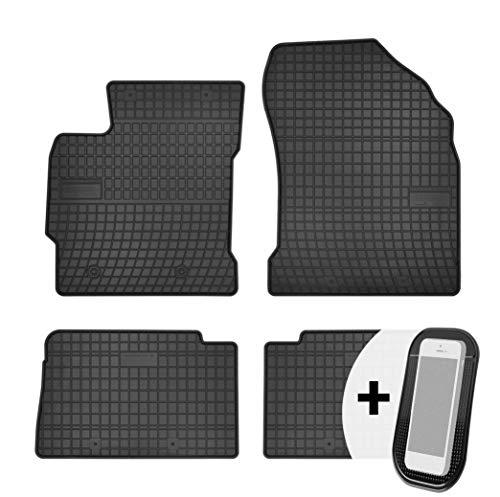 moto-MOLTICO Gummimatten Auto Fußmatten Gummi Automatten Passgenau 4-teilig Set - passend für Toyota Auris 2 II 2013-2018