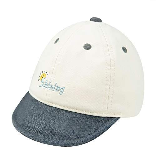 Foruhoo Basecap Baby Jungen Verstellbar - Schildmütze für Kinder Kappe Trucker Hut Sonnenhut (Grau,44)